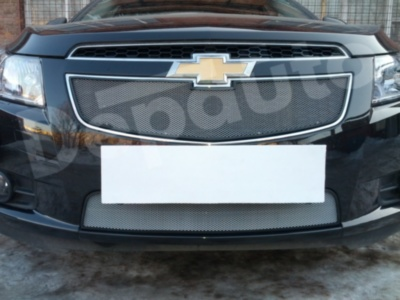 Защита радиатора Chevrolet Cruze 2009-2013 chrome низ