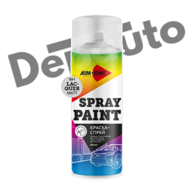 Краска-спрей лак матовый AIM-ONE 450 мл (аэрозоль).Spray paint lacquer matt 450ML SP-ML191